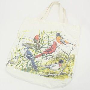Vintage Bird Tote Bag